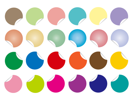Various sticker material set
