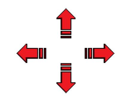 도트 화살표 빨간색