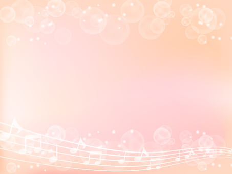 Musical note and light background