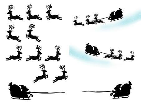 圣诞老人剪影