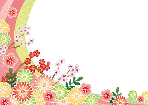 Japanese style flower