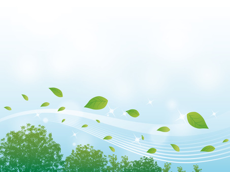 Sparkling streaming background of trees and leaves 02