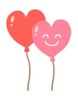 Nico Nico Heart Balloons 2 (Pink)