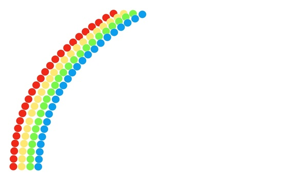 Designing a rainbow · I use it as a business card