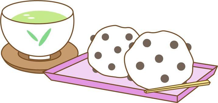 Bean Daifuku and Tea