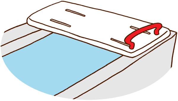 【Welfare Equipment】 Bath board, bathing