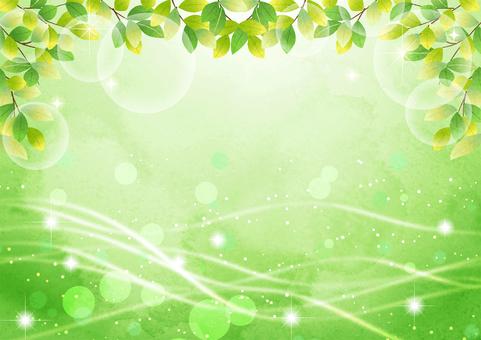 Watercolor green glitter streamline fresh green background