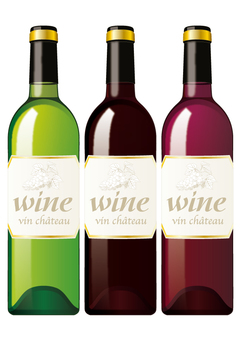 Wine bottle _ 3 colors