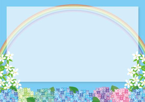 Colorful hydrangea frame (fine ver.)