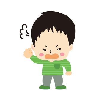 An angry boy