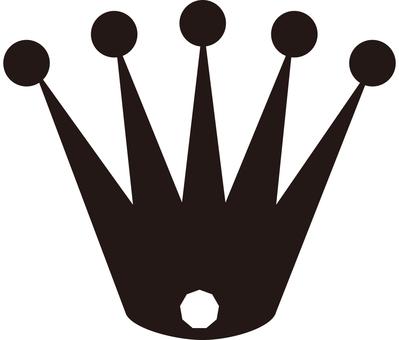Simple crown silhouette