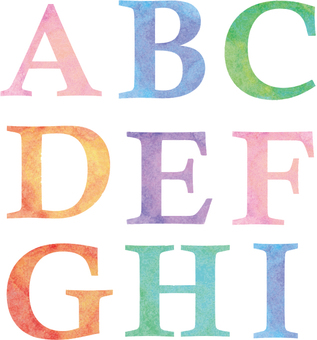 Alphabet ABC watercolor breeze
