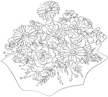 꽃다발 (컬러링)