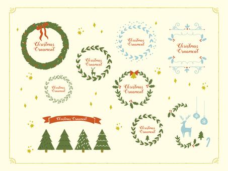 Postcard Christmas frame set