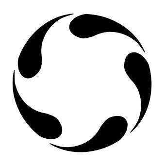 Monochrome vertical circular frame 4