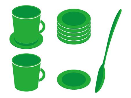 咖啡杯·勺子·杯墊07
