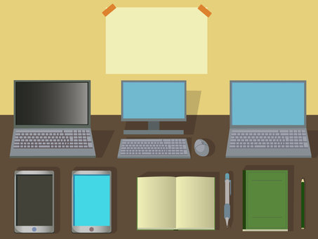 Computer stationery goods png no background