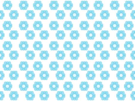 花 パターン 水色