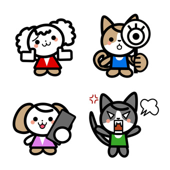Simple dog's character set