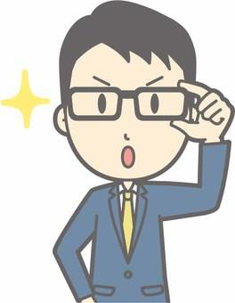 Suit men b - Glasses Kirari 1 - Bust