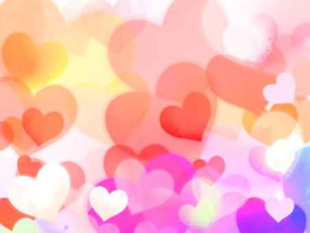 Fluffy Heart Background Warm color gradation