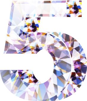 ai 다이아몬드 숫자 5