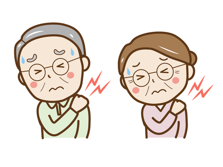 Grandpa with a sore shoulder Grandma