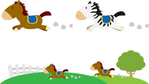 말 달리는