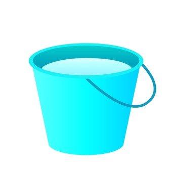 Bucket, blue