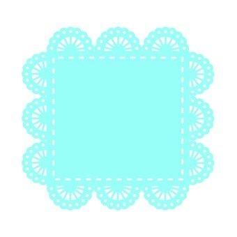 Lace paper square