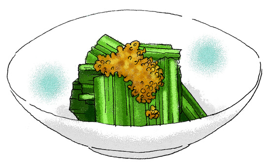 Sesame starch of Komatsuna