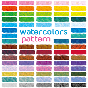 Watercolor pattern swatch handwriting bleeding shadow background