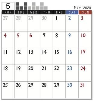 2020 Calendar Plock May