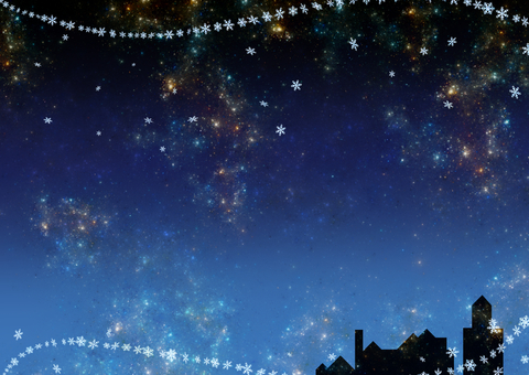 크리스마스 밤하늘