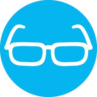 Rough icon glasses