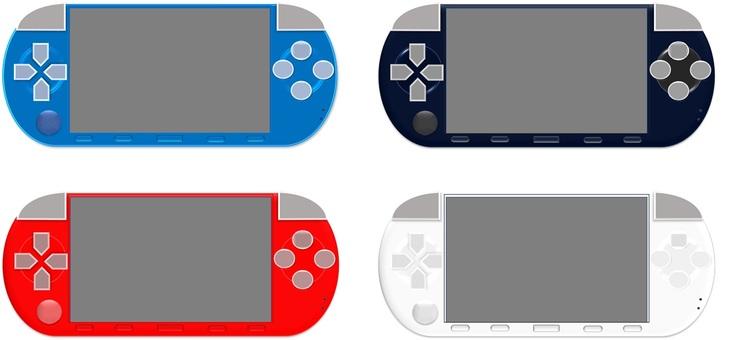 携帯ゲーム機(4色セット)