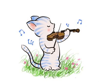 バイオリンねこ40