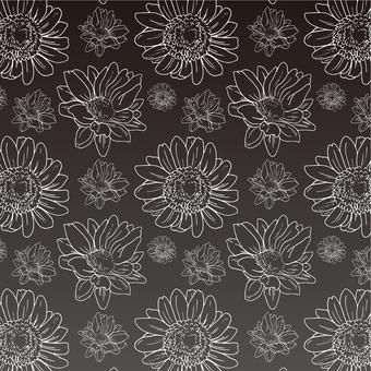 몸집 꽃 패턴 (백선)