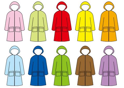 Rain coat each color