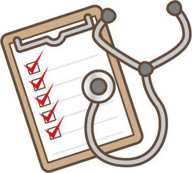 Check sheet and stethoscope