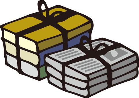 捆綁書籍和報紙