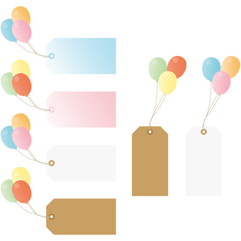 Tag with balloon