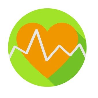 Flat icon - heart rate