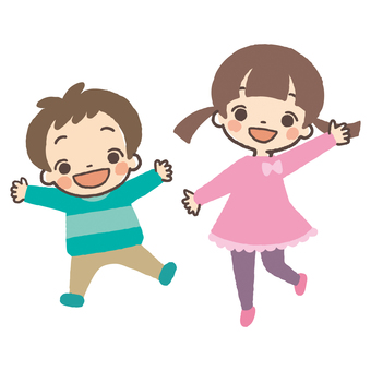 Energetic pose children