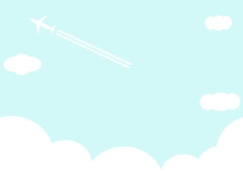 飛行機 空 雲