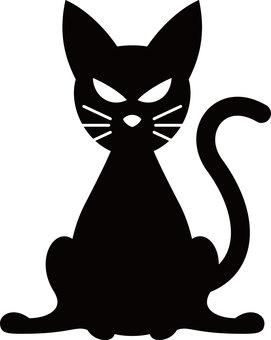 Halloween silhouette black cat