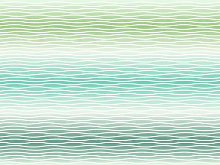 片狀條紋 - 綠色系列漸變中的白色條紋