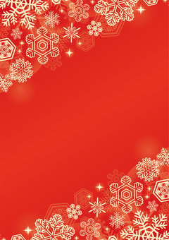 Christmas snow background red tan vertical position