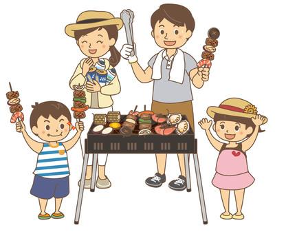 BBQ family (no background)