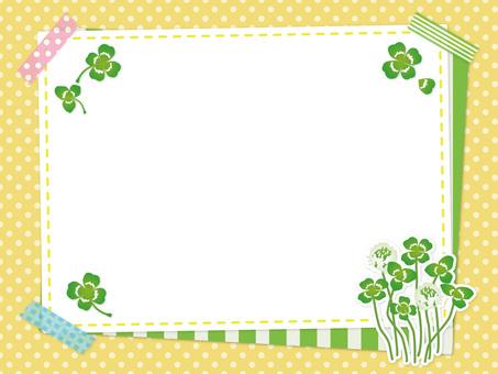 Spring clover and white clover frame 05